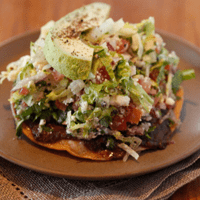 black bean toastada