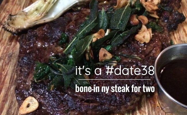 ny steak for two for $38