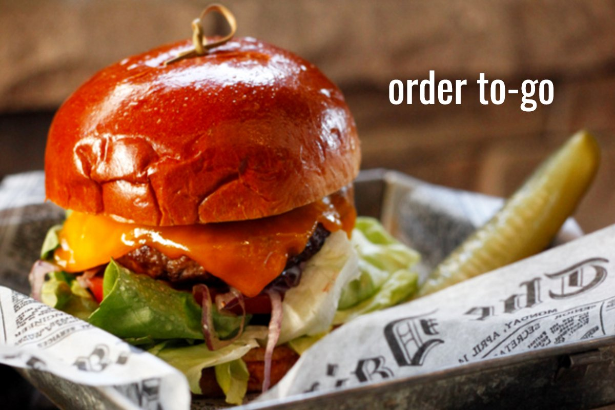 order to-go burger
