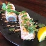 miso crazy salmon roll
