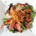 sashimi and market vegetable salad