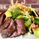 southwest skirt steak salad