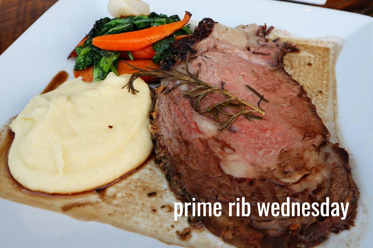 prime rib dinner every wednesday