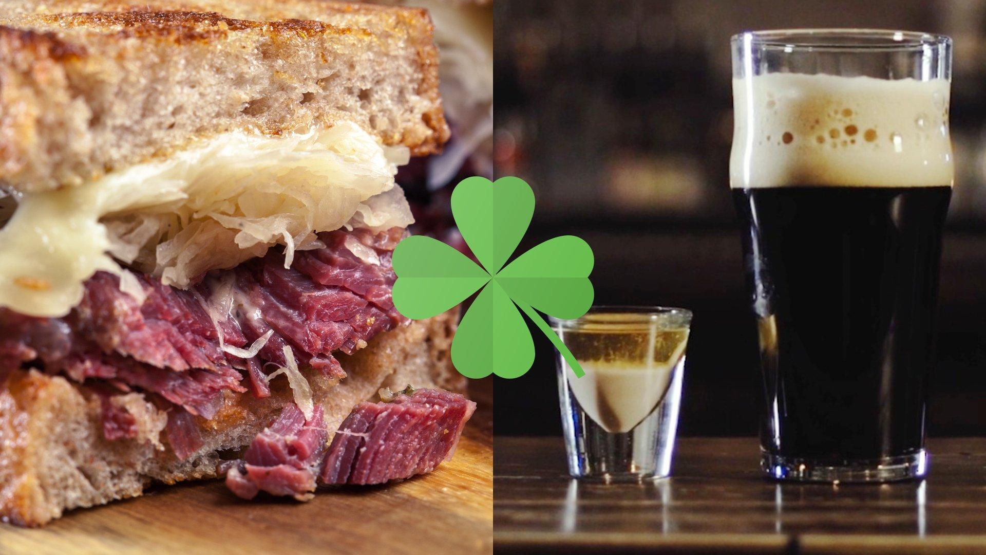 st patrick's day specials, corned beef sandwich, irish slammer